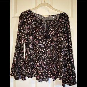 Lovestitch Black Boho Floral Top